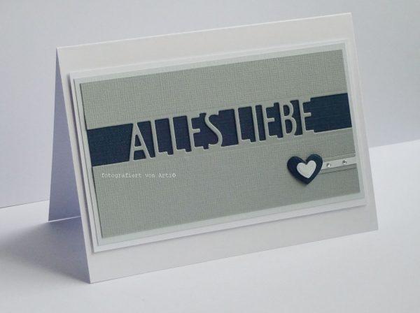 Alles Liebe Männerkarte