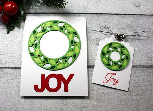 Jetzt im Shop: neue Weihnachts-Kranz-Schablone von Birch Press