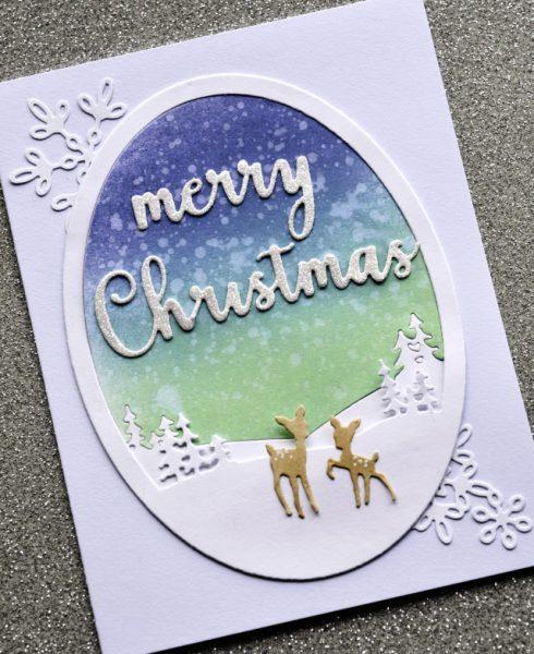 Karte von Memory Box und Poppy Stamps: Merry Christmas