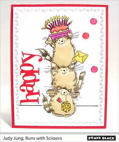 Karte von Penny Black: Happy Critters