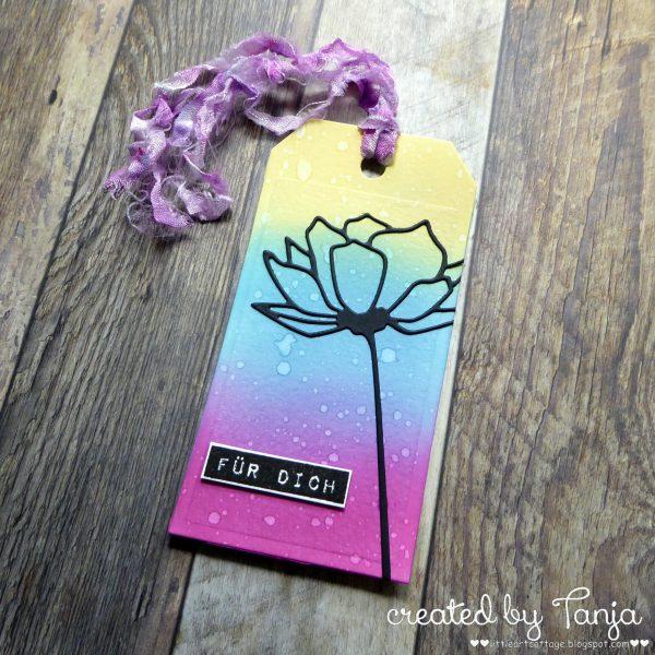 Für Dich Flower Tag