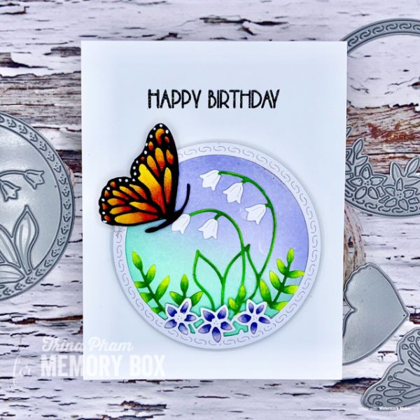 Karte von Memory Box: Side Butterfly Circle Twofers