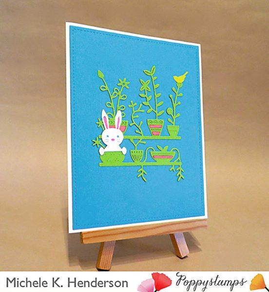 Karte von Poppy Stamps: Peek A Boo Bunny