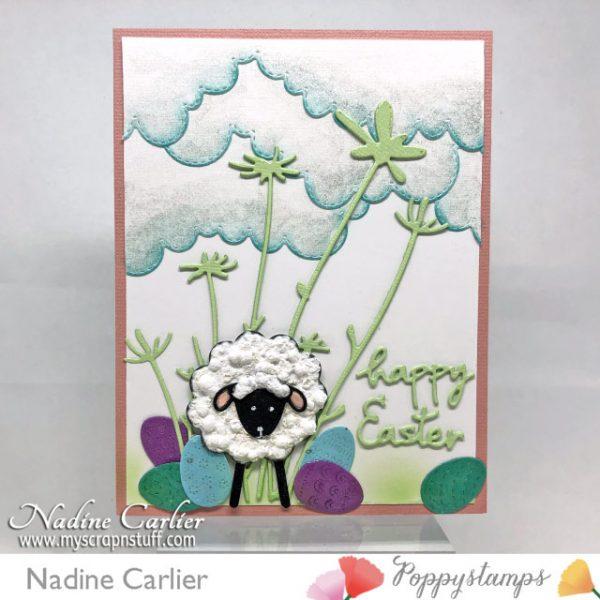 Karte von Poppy Stamps: Blog Blitz Cute Easter Card