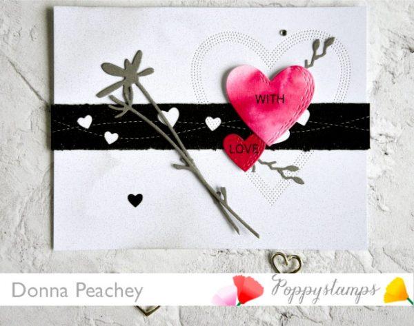 Karte von Poppy Stamps: With Love