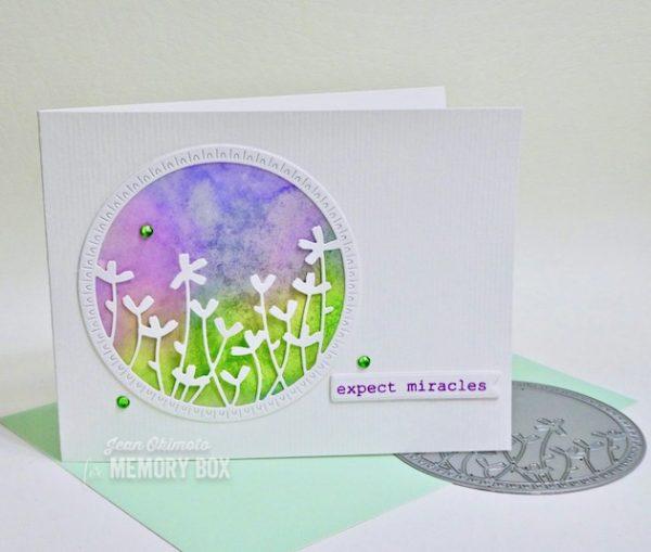 Karte von Memory Box: Wildflower Circle