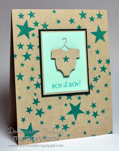 Karte von Memory Box: Boy, Oh, Boy Baby Suit