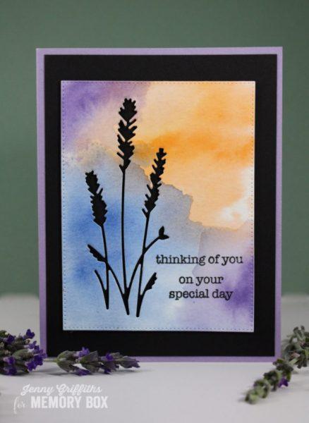 Karte von Memory Box: Lovely Lavender
