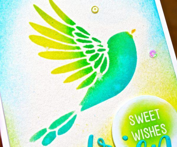 Karte von Poppy Stamps: Sweet Wishes Friend
