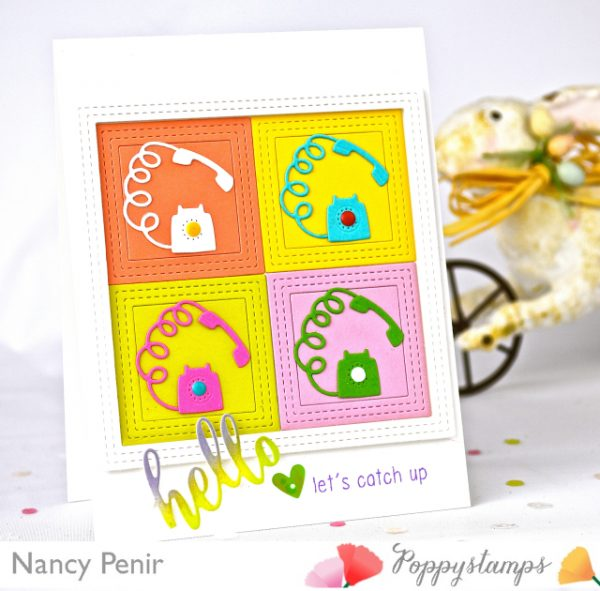 Karte von Poppy Stamps: Hello