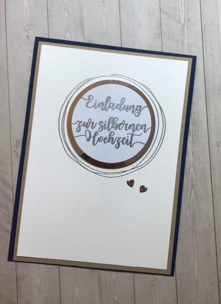 Einladungen zur silbernen Hochzeit