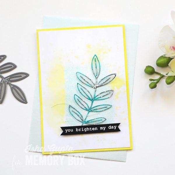 Karte von Memory Box: You Brighten My Day Card