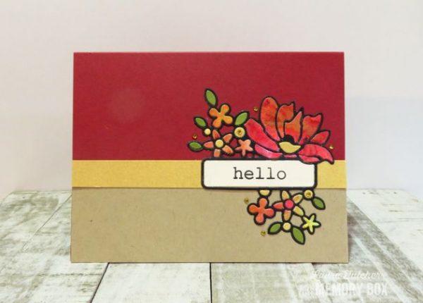 Karte von Memory Box: Garden Bouquet