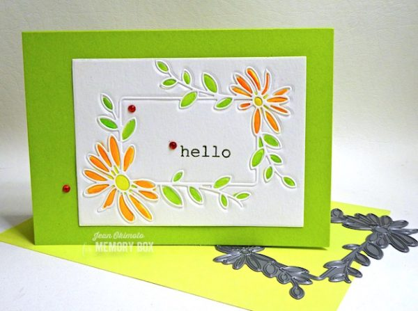 Karte von Memory Box: Watercolor an Embossed Daisy Frame