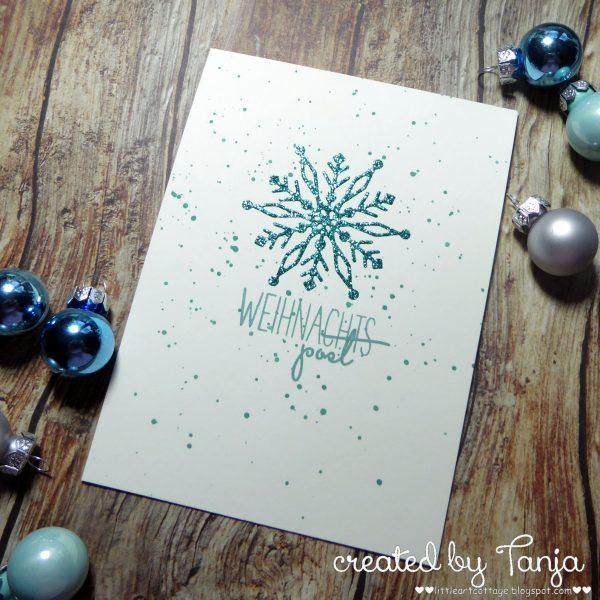 Schneeflocken Weihnachtspost