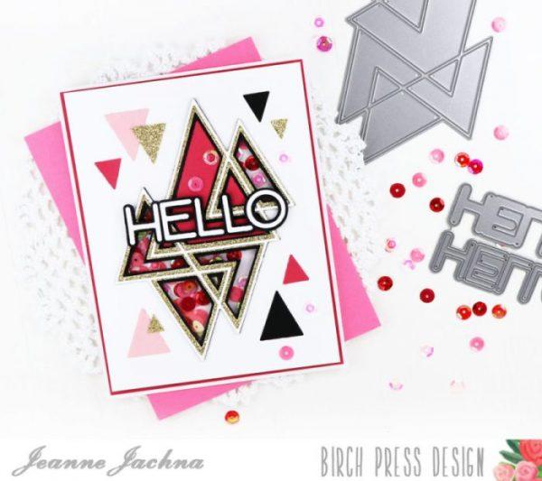 Karte von Birch Press: Prismatic Triangle Hello