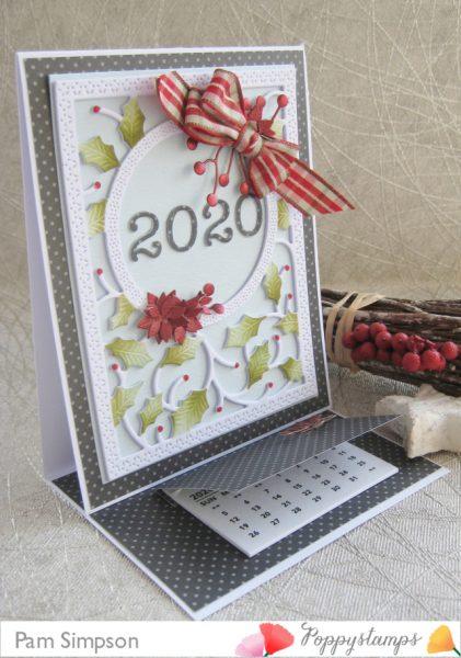 Karte von Poppy Stamps: Calendar Card
