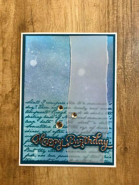 Geburtstagskarte mit etwas Glanz