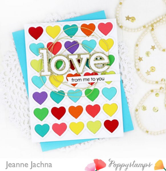 Karte von Poppy Stamps: With Love From Me To You
