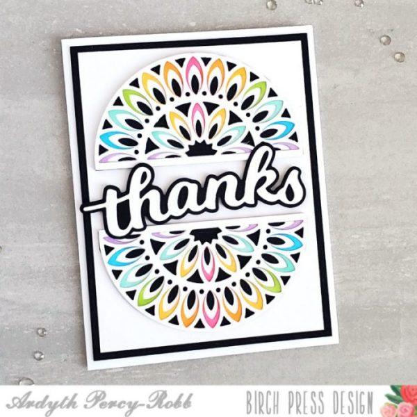 Karte von Birch Press: Rainbow Thank you Card