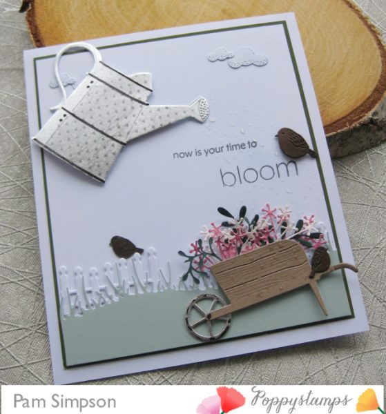 Karte von Poppy Stamps: Now is your time to Bloom