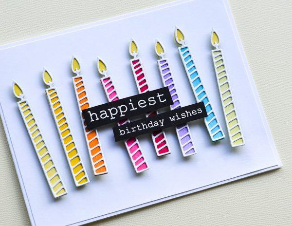 Karte von Memory Box: Birthday Candles