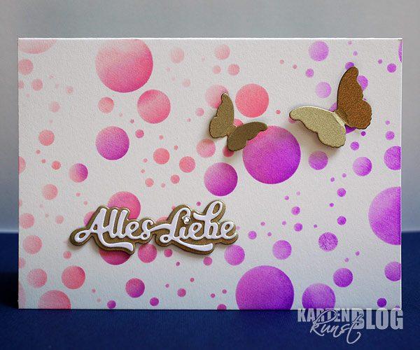 Luftig-leichte Schmetterlings-Karte