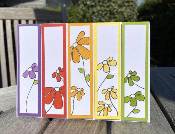Regenbogenbunte Sommerkarte 2