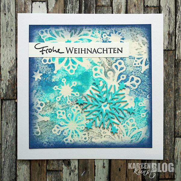 Schneeflockige Weihnachtskarte