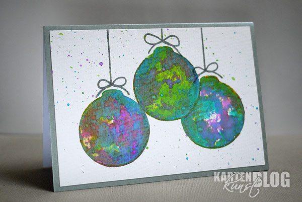 Drei bunte Weihnachtskugeln - mit Trick!