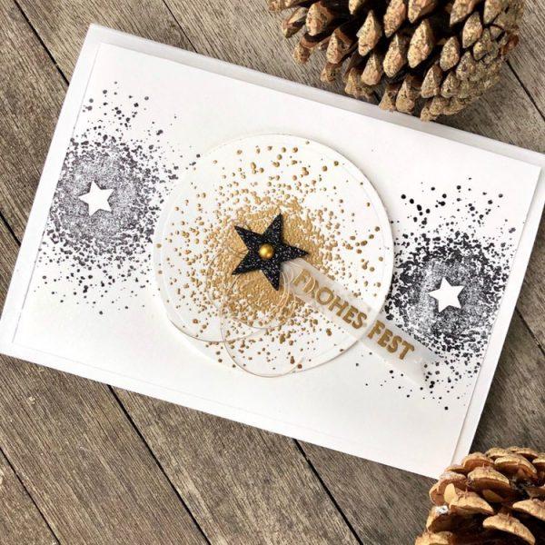 Stern-Splatter zu Weihnachten