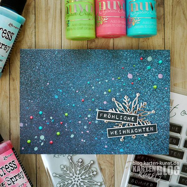 Konfetti-Weihnachtskarte mit Distress Oxide Sprays