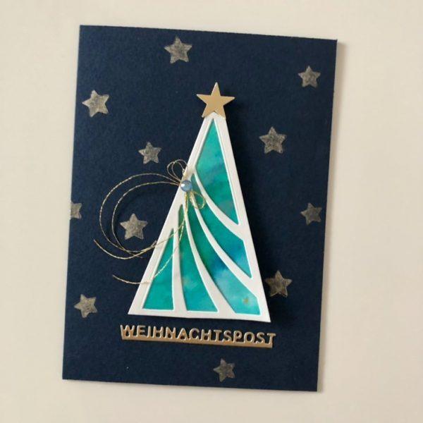 Weihnachtspost mit klarer Linie