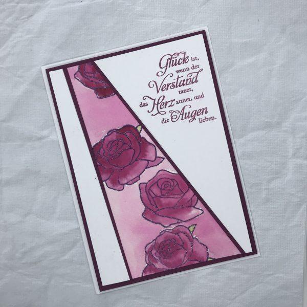 Liebeserklärung mit Rosen