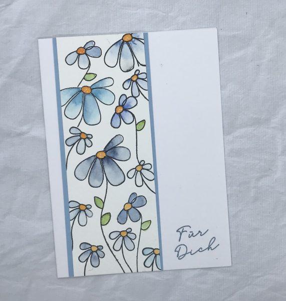 Blumengruß - mal in blau