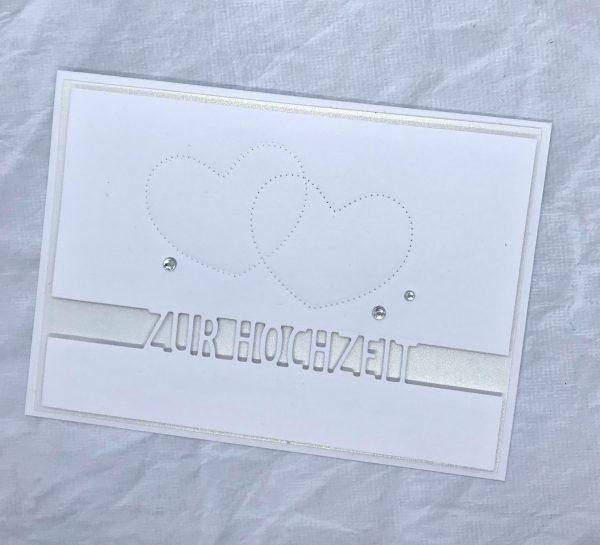 Elegante Karte zur Hochzeit