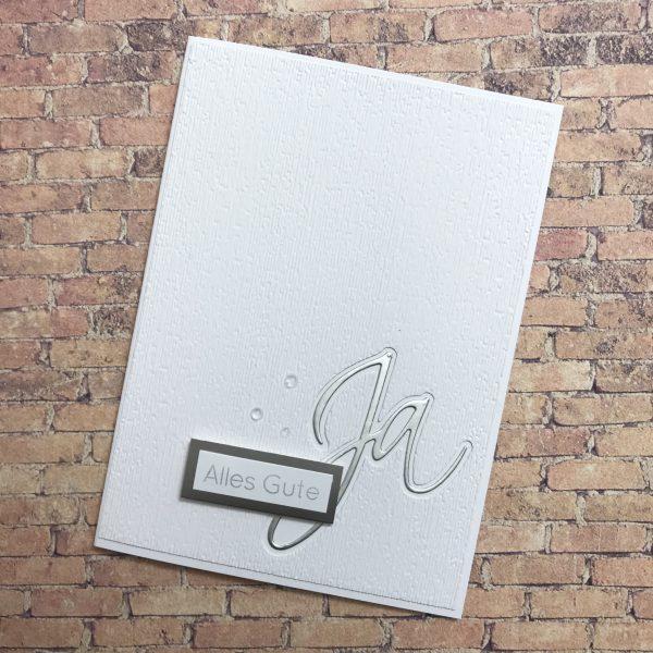 Hochzeitskarte für zwei Minimalisten