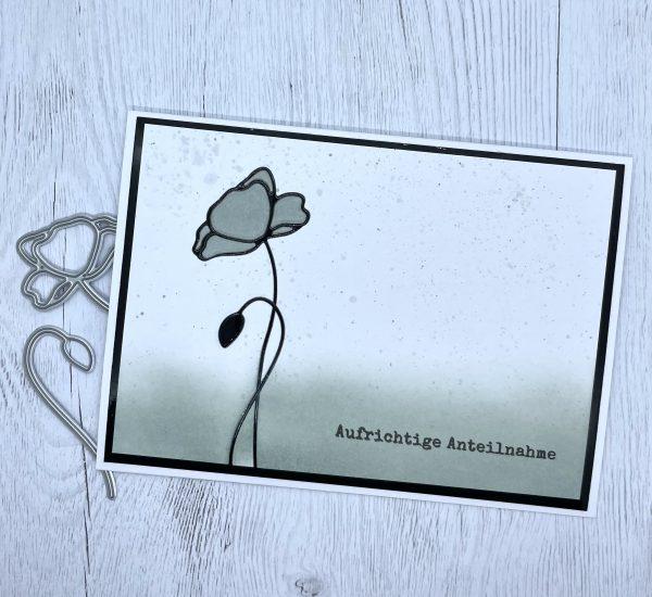Schlichte Trauerkarte
