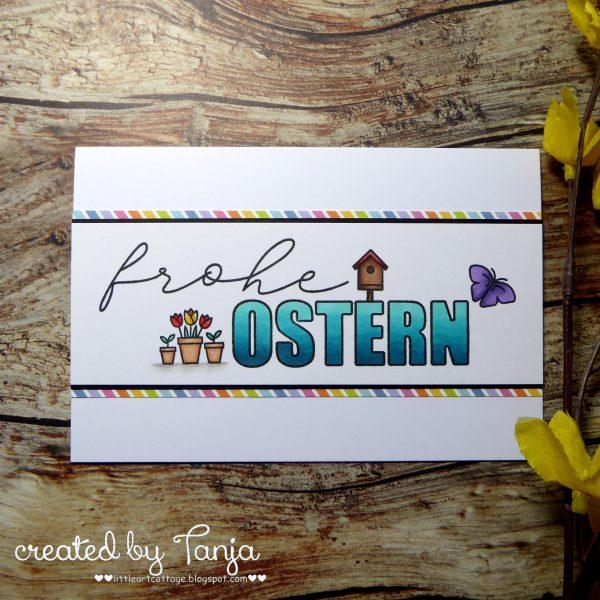 Frohe Ostern mit Mini Stempeln