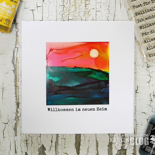 Karten-Kunst Quick Card Friday #05 – Malen mit Alcohol Inks