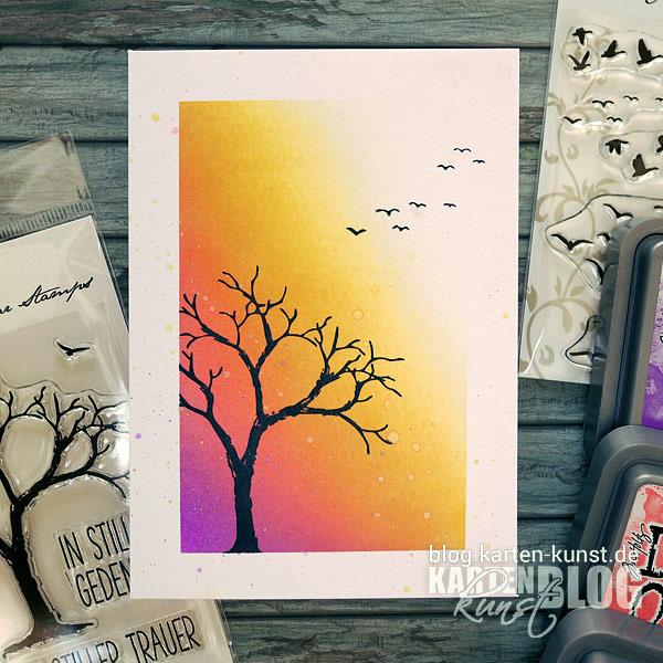 Karten-Kunst Quick Card Friday #07 – Teilgerahmter Distress-Hintergrund