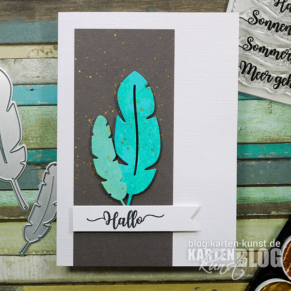 Karten-Kunst Quick Card Friday #12 – Federleichte Karte