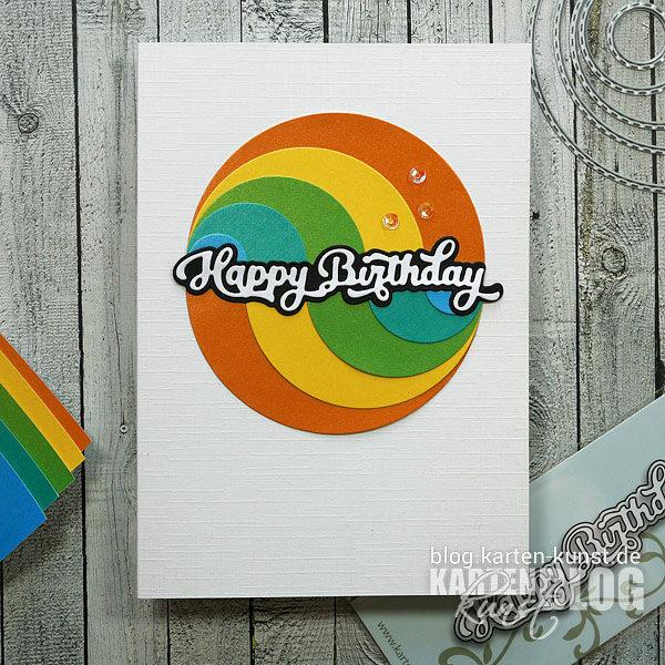 Karten-Kunst Quick Card Friday #17 – Kreis-Arrangements