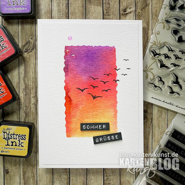 Karten-Kunst Quick Card Friday #15 – Stempeln mit Acrylblock