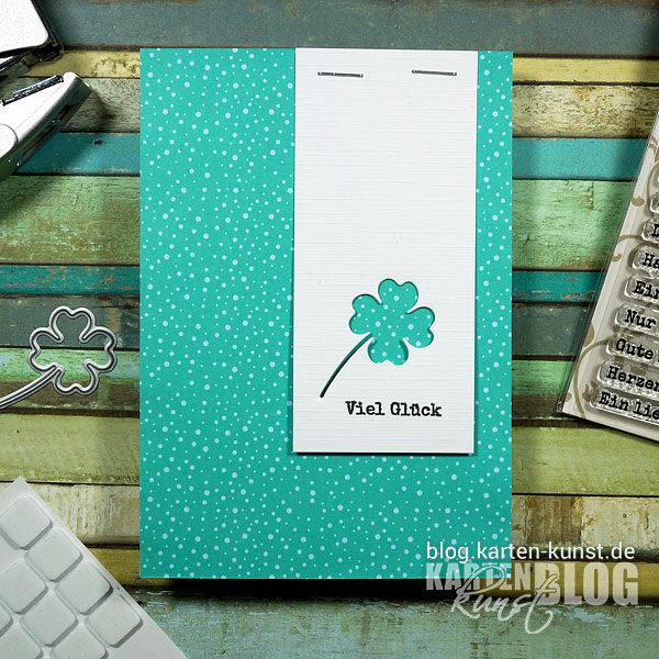 Karten-Kunst Quick Card Friday #16 – Blitz-Stanz-Karte