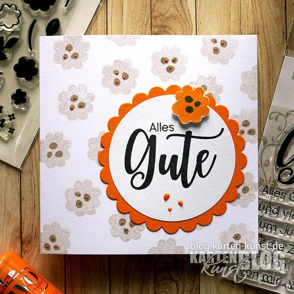 Karten-Kunst Quick Card Friday #20 – Alles Gute im Blümchen-Meer
