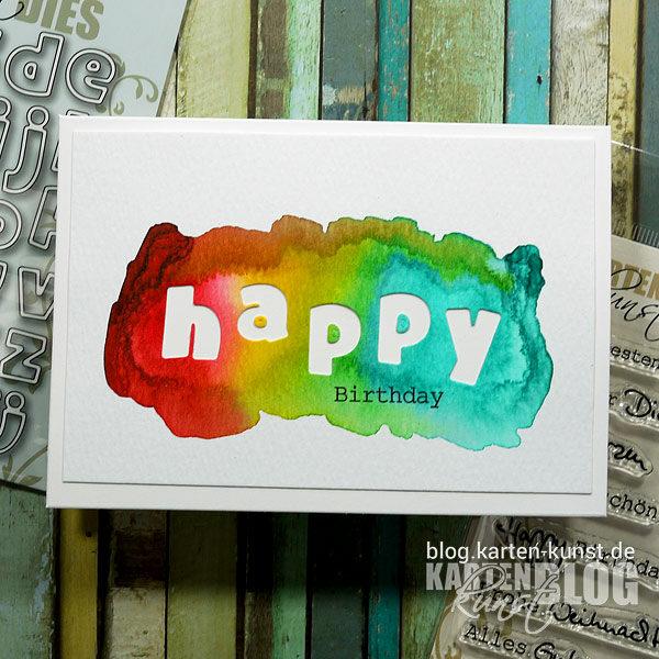 Karten-Kunst Quick Card Friday #19 – Happy Regenbogen