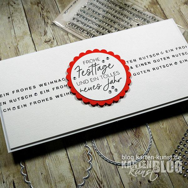 Karten-Kunst Quick Card Friday #21 & Stempel-Release: Weihnachten modern + Spruch-Kombinationen Weihnachten