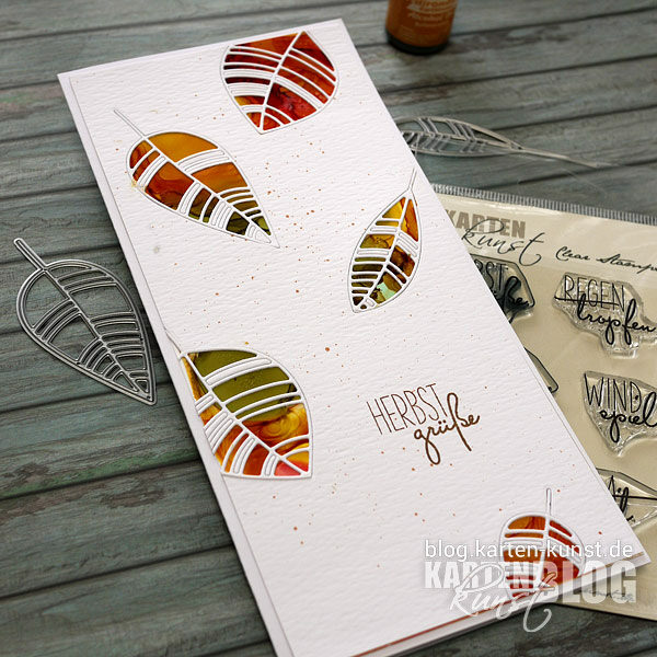 Karten-Kunst Quick Card Friday #22 - Fallende Blätter