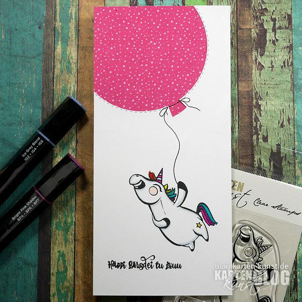 Karten-Kunst Quick Card Friday #23 – Fliegender Barney